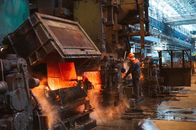 maquina del sector siderúrgico